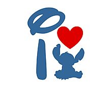 I Heart Stitch (Inverted) Photographic Print