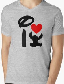 I Heart Stitch Mens V-Neck T-Shirt