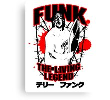 Terry Funk T-shirt Canvas Print
