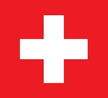 Swiss, Switzerland, Swiss Flag, Flag of Switzerland, Swiss Confederation, by TOM HILL - Designer
