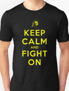 Keep Calm and Fight On (Black) T-Shirt