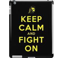 Keep Calm and Fight On (Black) iPad Case/Skin