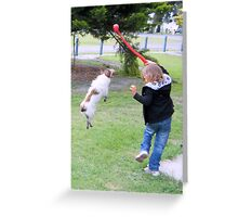 Girl and Pup Greeting Card