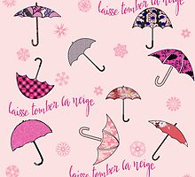 Laisse Tomber la Neige with Umbrellas by Greenbaby