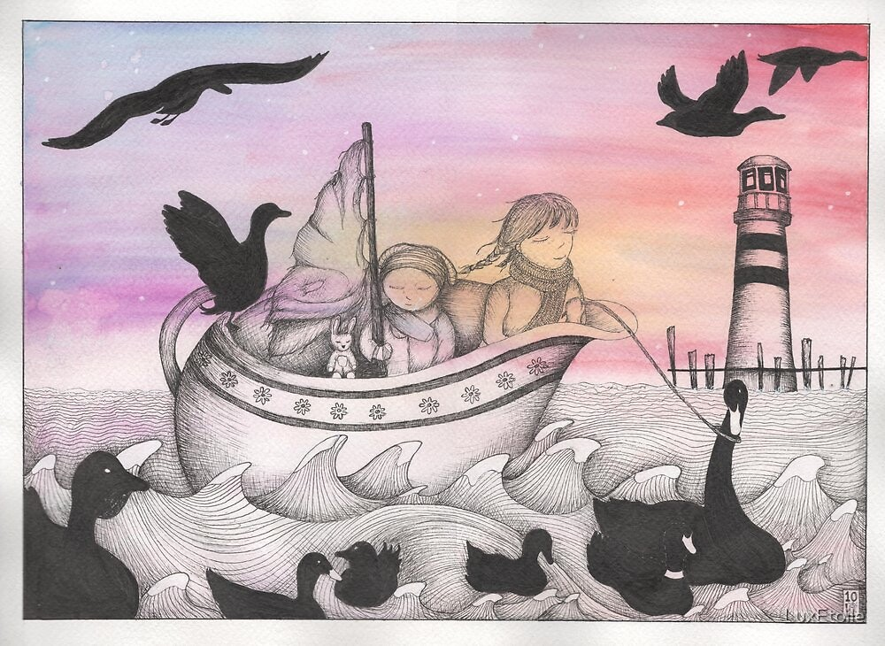 And With The Dawn Came The Inky Black Ducks by LuxEtoile