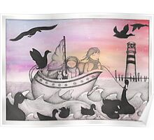 And With The Dawn Came The Inky Black Ducks Poster