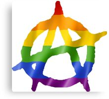 Anarchy Pride Logo T Shirts, Stickers and Other Gifts Canvas Print