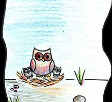 Ground Nesting Owl by emmbr