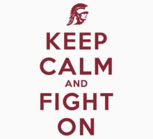 Keep Calm and Fight On (Cardinal Letters) by ShopGirl91706