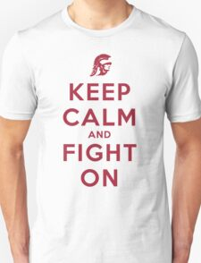 Keep Calm and Fight On (Cardinal Letters) T-Shirt
