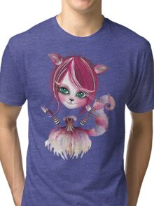 Cheshire Kitty Tri-blend T-Shirt
