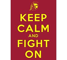 Keep Calm and Fight On (Gold Letters) Photographic Print