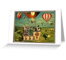 Ballooning on Sunday Greeting Card