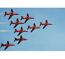The Red Arrows against a blue sky Photographic Print