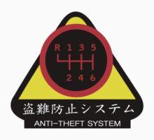JDM - Anti-Theft System (Pattern 5) (dark) Kids Tee