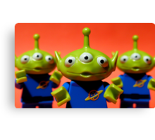 Little Green Men Canvas Print