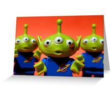 Little Green Men Greeting Card