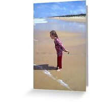 Screaming at the Waves ~ 90 Mile ~ Victoria Greeting Card