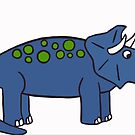 Blue Triceratops by ProvenL