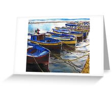 Procida Fishing Boats End of The Day Greeting Card
