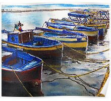 Procida Fishing Boats End of The Day Poster