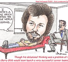 I Started A Joke Bee Gees Cartoon by Londons Times by Rick  London