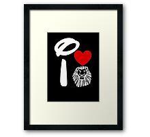 I Heart The Lion King (Inverted) Framed Print