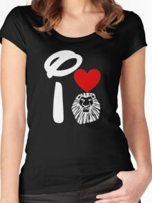 I Heart The Lion King (Inverted) Women's Fitted Scoop T-Shirt