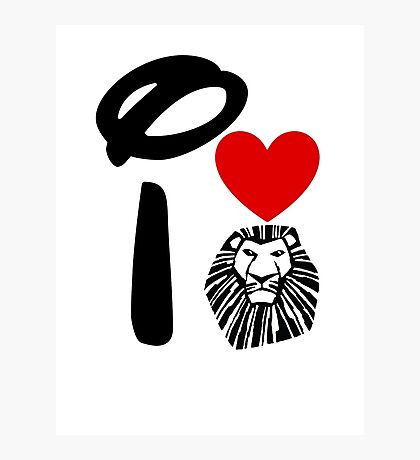 I Heart The Lion King Photographic Print