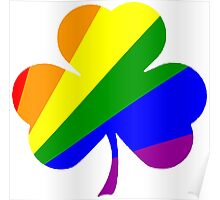 Gay Pride Shamrock T Shirts, Stickers and Other Gifts Poster