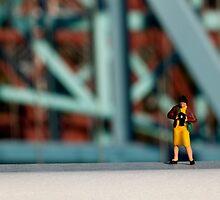 A little photographer on a bridge by jennifernichole