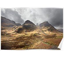 Coire nan Lochan, a corrie of Bidean nam Bian Poster