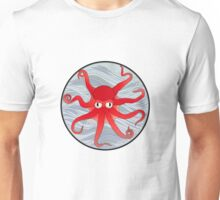Octopus Red Unisex T-Shirt