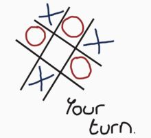 Noughts & Crosses (Tic-tac-toe) (Black Text) by Paul James Farr