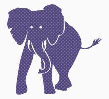 Purple Patterned Pachyderm Elephant Kids Clothes