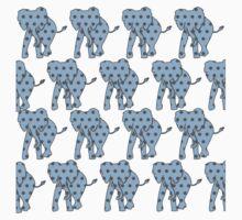 Blue Polka Dotted Elephants Kids Clothes