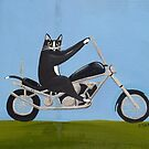 Motorcycle Cat by Ryan Conners