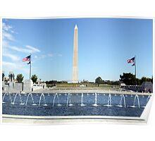 Washington Monument & World War 2 Memorial Poster
