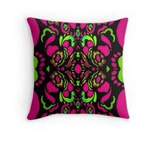 Psychedelic Retro Ornament Throw Pillow