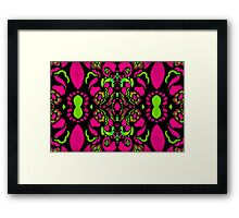 Psychedelic Retro Ornament Framed Print