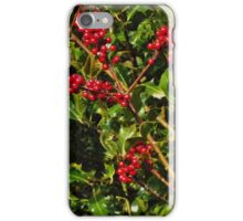 Holly with berries iPhone Case/Skin