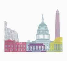 Washington DC skyline pop One Piece - Long Sleeve