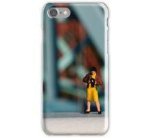 A little photographer on a bridge iPhone Case/Skin