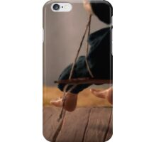 Dry Summers - dollhouse scale porch scene iPhone Case/Skin