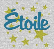Etoile French for Star in Faux Glitter One Piece - Short Sleeve