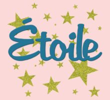 Etoile French for Star in Faux Glitter Baby Tee