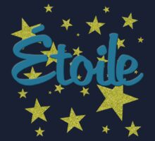 Etoile French for Star in Faux Glitter Kids Tee