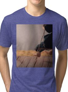 Dry Summers - dollhouse scale porch scene Tri-blend T-Shirt