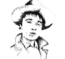 Hand Drawn Dot Pete Doherty Pen Drawing by Gangofgin95
