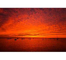 Western Beach Sunrise - Geelong Victoria Photographic Print